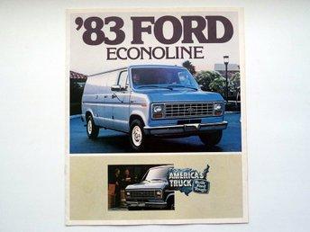 Broschyr 1983 Ford Econoline - försäljnings katalog - catalogue - Farsta - Broschyr 1983 Ford Econoline - försäljnings katalog - catalogue - Farsta