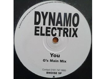 "Dynamo Electrix title* You* House 12"",Promo UK"