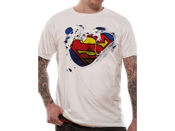 SUPERMAN - TORN LOGO (UNISEX) - Extra-Large