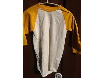 BASEBALLSHIRT, 2 st,  gul ärm , ca 60-170cl   (Youth large)