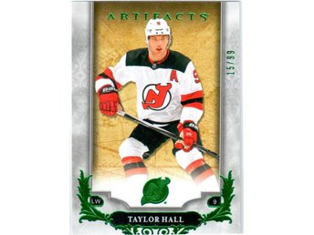 2018-19 Artifacts 114 Taylor Hall New Jersey Devils Emerald 15/99