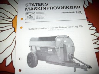 STALLGÖDSELSPRIDARE HOWARD ROTASPREADER  (2485)