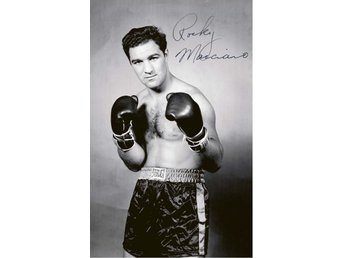 ROCKY MARCIANO AMERICAN PROFESSIONAL HEAVYWEIGHT BOXER PRE-PRINTED AUTOGRAF