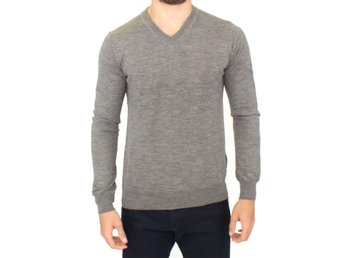 Cavalli - Gray wool pullover sweater