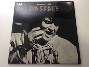 Elvis Presley On Stage February 1970 1st Edition (SX-58) Japanpressning 2-LP y3