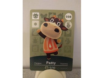 Animal Crossing Amiibo Welcome Amiibo card nr 038 Patty