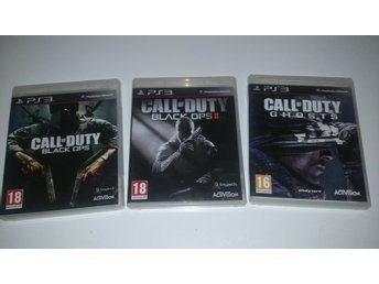 - 3-Pack Call of Duty Black Ops 1+2 + Ghosts PS3 -