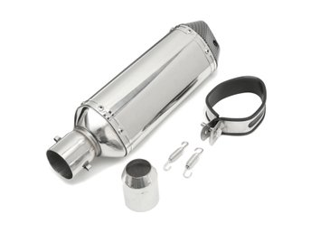 38-51mm Stainless Pipe Muffler Exhaust w/ Silencer  Motor...