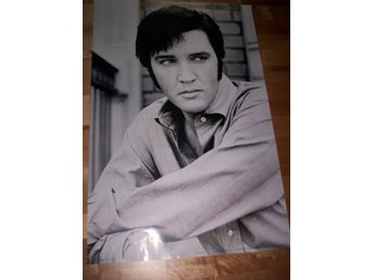 ELVIS PRESLEY (poster, affisch 61x91cm) Sv/vit foto photo ROCK n ROLL, The King