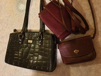 Tre skinn väskor  retro. Märke The Trend   F.NY.. (340751636) ᐈ Köp ... 6ef731e43102c