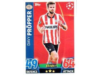 2015-2016 Topps MA Champions League NE #156, Davy Pröpper, PSV Eindhoven - Linköping - 2015-2016 Topps MA Champions League NE #156, Davy Pröpper, PSV Eindhoven - Linköping