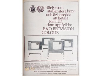 BANG & OLUFSEN BEOVISION COLOUR TIDNINGSANNONS Retro 1969