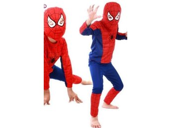 spidermandräkt ca stl 4-6 år