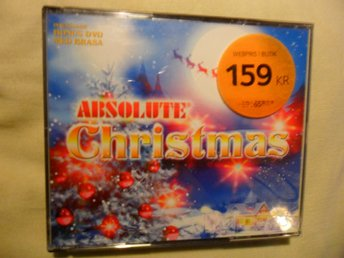 Absolute christmas 2CD + DVD Lennon, Band aid, Wham, Triad Vandros mfl julsånger