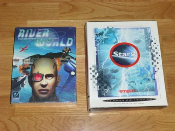 River World (inplastad) och Stars! PC big box kompletta 1998