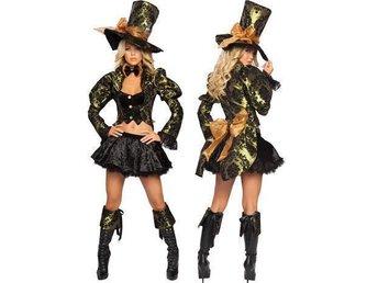 REA! 42/44 - Hattmakaren Alice i Underlandet steamunk maskerad halloween - åkersberga - REA! 42/44 - Hattmakaren Alice i Underlandet steamunk maskerad halloween - åkersberga
