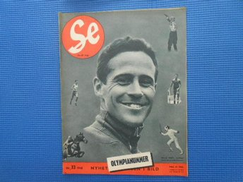 SE nr 33 1948 Olympianummer OS London Wille Grut Pigalle