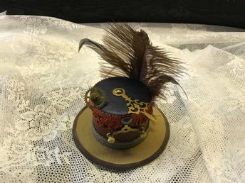 "Steampunk Mini Hat ( "" Gears April 2017 "" ) No 15  Steampunk By Alex"
