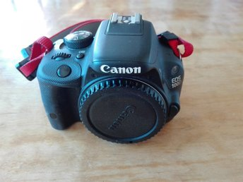 Canon 100D kamerahus, glapp i display