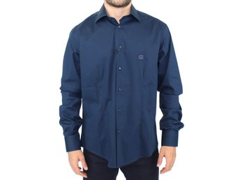 Cavalli - Blue stretch cotton shirt