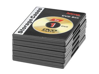 HAMA DVD-Box Svart 5-pack