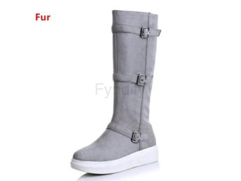 Dam Boots Shoes Women Warm Winter Botas gray fur 37