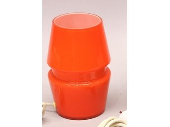 RETRO LAMPOR - SPACE AGE - ORANGE GLAS - 50- 60-TAL - MIDCENTURY DESIGN