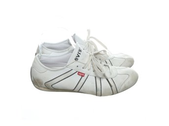 Levi Strauss & Co, Sneakers, Strl: 42, Vit/Svart