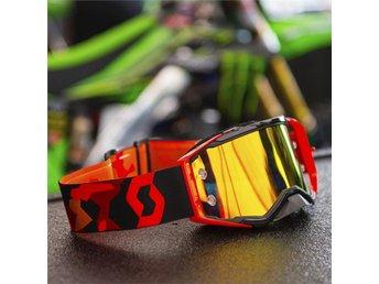 Scott 2017 Goggle Prospect black/fluo red orange chrome works - Frövi - Scott 2017 Goggle Prospect black/fluo red orange chrome works - Frövi