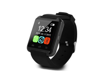 Svart - Smartwatch U8 U80 för Android iOS Iphone Samsung HTC Smart klocka
