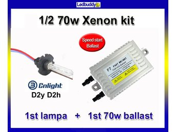 Xenon 1/2 kit 70w D2h D2y Speed start  AC slim kit xenonkit 1 lampa + 1 ballast