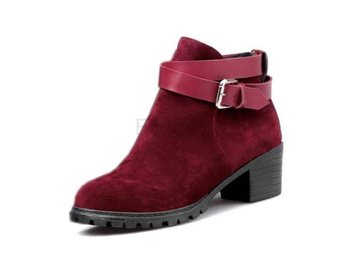 Dam Boots Ladise Buckle Heels Bota Footwear P15980 Red 36