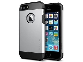 iPhone 5S / 5 Case Tough Armor - Satin Silver