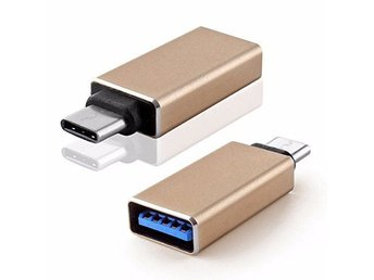 Supersnabb adapter USB C till USB 3.0 Guld