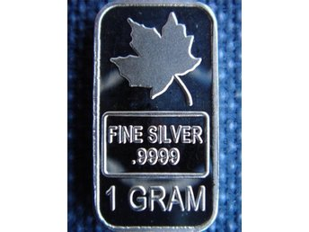 Canadian Maple silvertacka 1 gram 0,999 tacka i silver