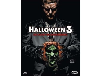 Halloween 3 III (Limited Blu-ray Hardbox 333 ex!) Tom Atkins, Rare OOP, Cover B