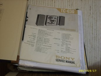 Sony TC-630  Service manual
