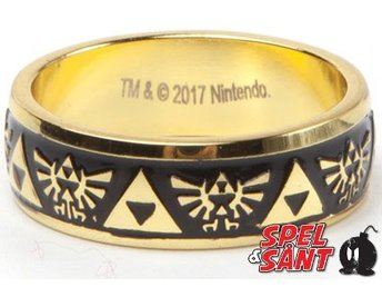 Nintendo The Legend of Zelda Triforce Graverad Ring (Medium)