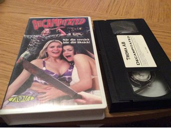 DECAMPITATED Skräck/splatter VHS TROMA AB