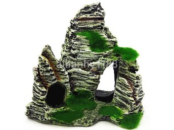 Mountain View Aquarium Rockery Gömma Cave Tree Fish Tank Decoration F416C