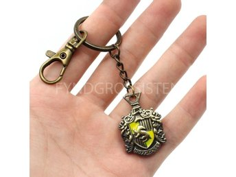 Harry Potter Nyckelring Metall Hufflepuff Fri Frakt Ny