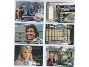 6 st STAR TREK SAMLARBILDER - SET NR 1