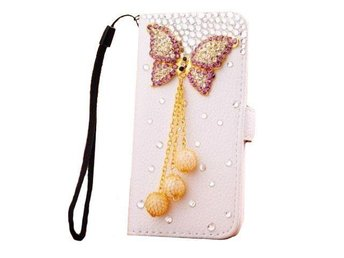 Diamond wallet leather case for 5/5S