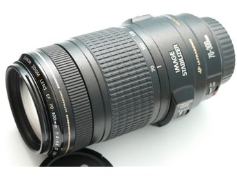 Canon EF 70-300mm 1:4-5.6 IS USM med Motljusskydd