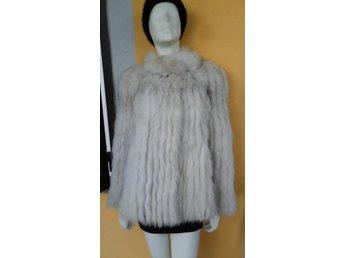 Vintage äkta blåräv räv päls jacka kappa vit beige 40 42 - Rome - Vintage äkta blåräv räv päls jacka kappa vit beige 40 42 - Rome