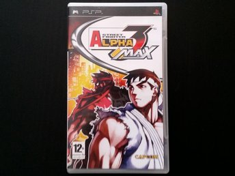 Street Fighter Alpha 3 Max (PSP, komplett)