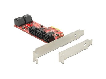 DeLOCK Kontrollerkort, PCI-Express x2, 10xSATA 7-Pin ho internt