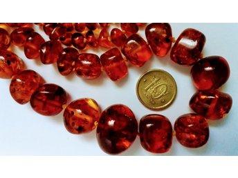 Antik vacker amber bärnsten halsband - Smedjebacken - Antik vacker amber bärnsten halsband - Smedjebacken