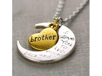 Halsband - I Love You to the Moon and Back Brother