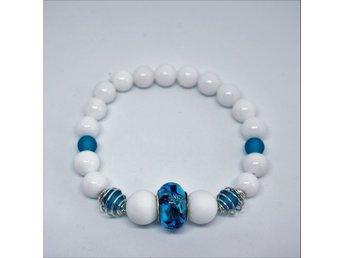 Armband Med Mörkblå Ormlänkspärla - Bjuv - Armband Med Mörkblå Ormlänkspärla - Bjuv